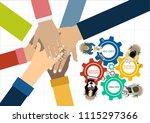flat design illustration... | Shutterstock .eps vector #1115297366