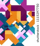 multicolored abstract geometric ... | Shutterstock .eps vector #1115297750