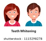 smiling man and woman before...   Shutterstock .eps vector #1115298278