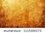abstract low poly dark brown... | Shutterstock .eps vector #1115300273