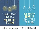 books quote design. so many... | Shutterstock .eps vector #1115304683