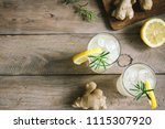 ginger ale or kombucha in... | Shutterstock . vector #1115307920