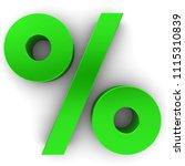 percent sign percentage... | Shutterstock . vector #1115310839