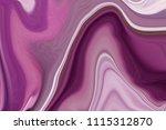 abstract marble texture. purple ... | Shutterstock . vector #1115312870