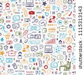 internet of things background.... | Shutterstock .eps vector #1115313143