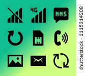 vector icon set about mobile...   Shutterstock .eps vector #1115314208