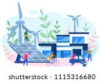 concept smart house  clean... | Shutterstock .eps vector #1115316680