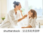 happy family  mother and... | Shutterstock . vector #1115319209