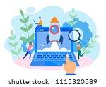 concept growth  career  start... | Shutterstock .eps vector #1115320589