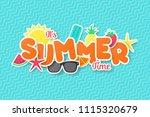 summer time vector banner... | Shutterstock .eps vector #1115320679