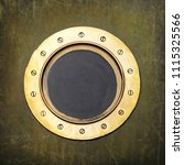 underwater armored porthole in... | Shutterstock . vector #1115325566