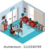 business woman. reporting to... | Shutterstock .eps vector #1115330789