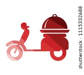 delivering motorcycle icon.... | Shutterstock .eps vector #1115332688