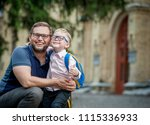 back to school. happy father... | Shutterstock . vector #1115336933