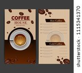 coffee menu card | Shutterstock .eps vector #1115341370