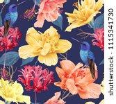 vector tropical seamless... | Shutterstock .eps vector #1115341730