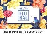 vector tropical horizontal...   Shutterstock .eps vector #1115341739