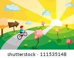 a vector illustration of a kid...   Shutterstock .eps vector #111535148