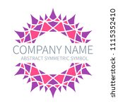 abstract symmetry circle logo.... | Shutterstock .eps vector #1115352410