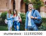 young handsome boyfriend in a... | Shutterstock . vector #1115352500