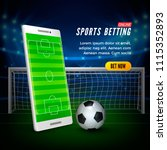 sports betting online web... | Shutterstock .eps vector #1115352893