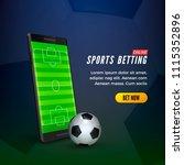sports betting online web... | Shutterstock .eps vector #1115352896