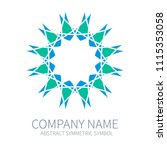 abstract symmetry circle logo.... | Shutterstock .eps vector #1115353058