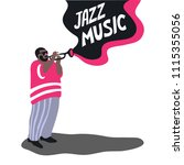 black man is playing on a... | Shutterstock .eps vector #1115355056