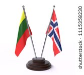 lithuania and norway  two table ... | Shutterstock . vector #1115358230