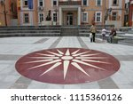 city hall in the city of kriva... | Shutterstock . vector #1115360126