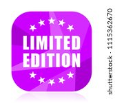 limited edition violet square...   Shutterstock .eps vector #1115362670