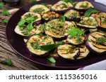 eggplant grilled with balsamic... | Shutterstock . vector #1115365016