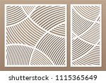 set decorative card for cutting.... | Shutterstock .eps vector #1115365649