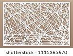 decorative panel laser cutting. ... | Shutterstock .eps vector #1115365670