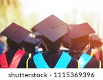 backside female  graduation... | Shutterstock . vector #1115369396