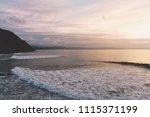 sunlight sunset on horizon... | Shutterstock . vector #1115371199