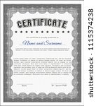 grey certificate or diploma... | Shutterstock .eps vector #1115374238