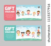 gift voucher template and... | Shutterstock .eps vector #1115377916