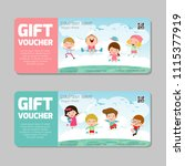 gift voucher template and... | Shutterstock .eps vector #1115377919