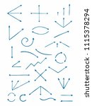set of hand drawn arrows. the... | Shutterstock .eps vector #1115378294