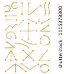 set of hand drawn arrows. the... | Shutterstock .eps vector #1115378300