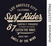los angelesr typography.... | Shutterstock .eps vector #1115378366