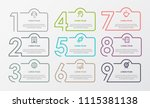 business infographic template.... | Shutterstock .eps vector #1115381138