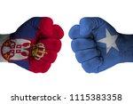 serbia vs somalia | Shutterstock . vector #1115383358