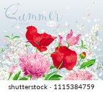 vintage floral vector... | Shutterstock .eps vector #1115384759
