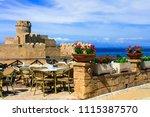 italian landmarks   medieval... | Shutterstock . vector #1115387570