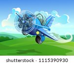 the screw aircraft fly over the ... | Shutterstock .eps vector #1115390930