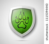 protected dog track guard... | Shutterstock .eps vector #1115394440