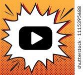 play button sign. vector....   Shutterstock .eps vector #1115395688