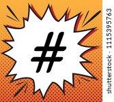 hashtag sign illustration.... | Shutterstock .eps vector #1115395763